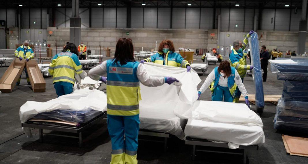 Camas hospitalarias habilitadas en IFEMA